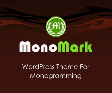 MonoMark - Monogramming WordPress Theme