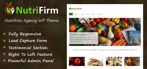 Nutrition Agency WordPress Theme