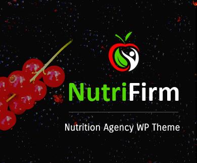 NutriFirm - Nutrition Agency WordPress Theme