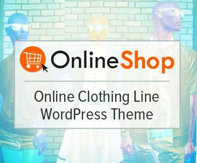 OnlineShop - Online Clothing Line WordPress Theme