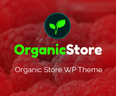 OrganicStore - Organic Product Selling WordPress Theme