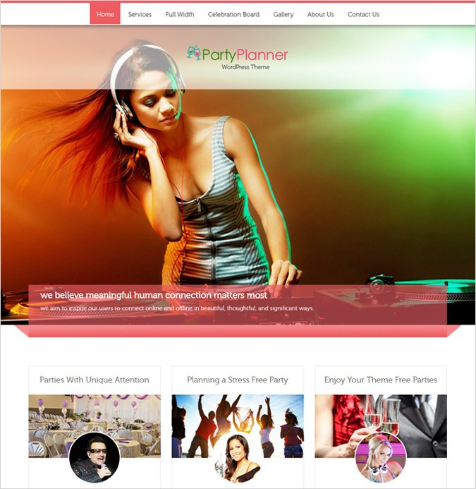 PartyPlanner wordPress