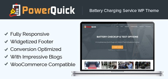 Battery Charging Service WordPress Theme