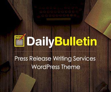 DailyBulletin - Press Release Writing Services WordPress Theme