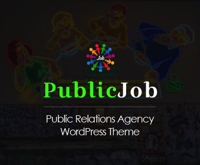 PublicJob - Public Relations Agency WordPress Theme