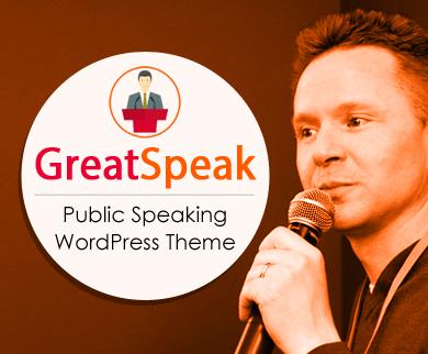 GreatSpeak - Public Speaking WordPress Theme