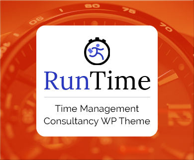 Run Time - Time Management Consultancy WordPress Theme