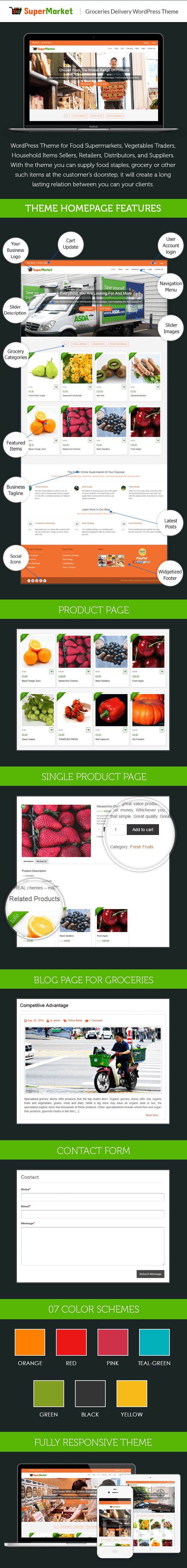 GROCERIES PRODUCT SELLING & DELIVERY WORDPRESS THEME