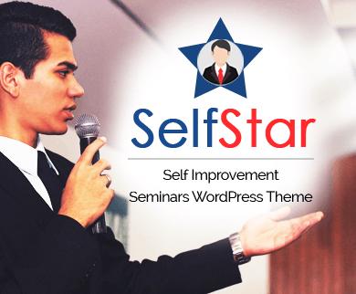 SelfStar - Self Improvement Seminars WordPress Theme