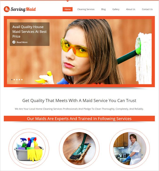 ServingMaid WordPress Theme