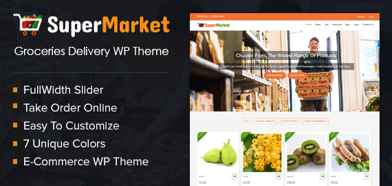 Groceries Delivery WordPress Theme