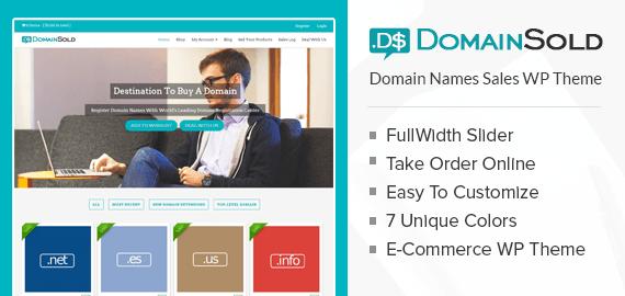 Domain Names Sell WordPress Theme