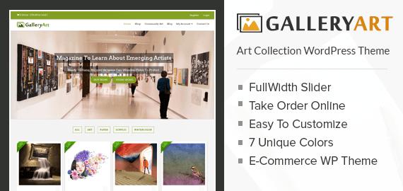 Art collection WordPress Theme