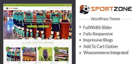 Sports Store WordPress Theme