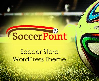 SoccerPoint - Soccer Store Wordpress Theme