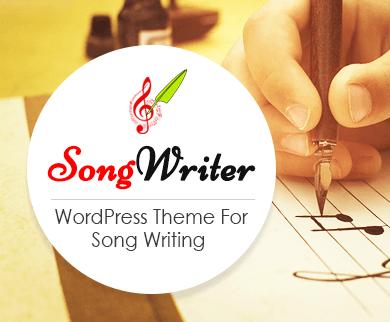 SongWriter - Song Writing WordPress Theme