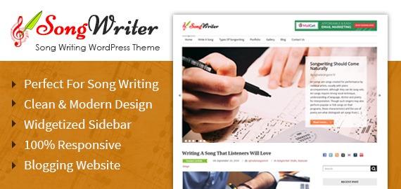 Song Writing WordPress Theme