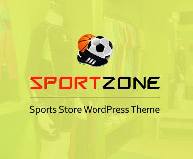 SportsZone - Sports Accessory Seller & Retailer WordPress Theme