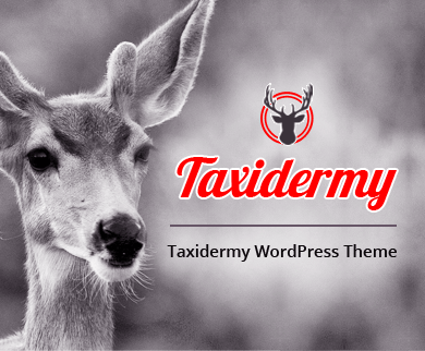 Taxidermy  - Taxidermy & Art Of Animal WordPress Theme