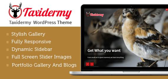 Taxidermy WordPress Theme