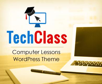 TechClass - Online Computer Lessons & Tutorials WordPress Theme