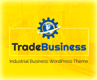 Trade Business - Industrial Manufacturing Business WordPress Theme