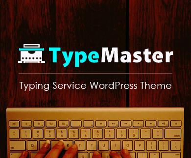 TypeMaster - Typing & Transcription Service WordPress Theme