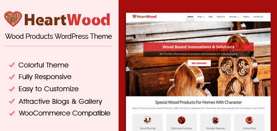 Wood Products Selling Ecommerce WordPress Theme | InkThemes