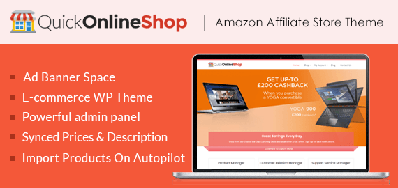 QuickOnlineShop - Amazon Affiliate Store WordPress Theme | InkThemes