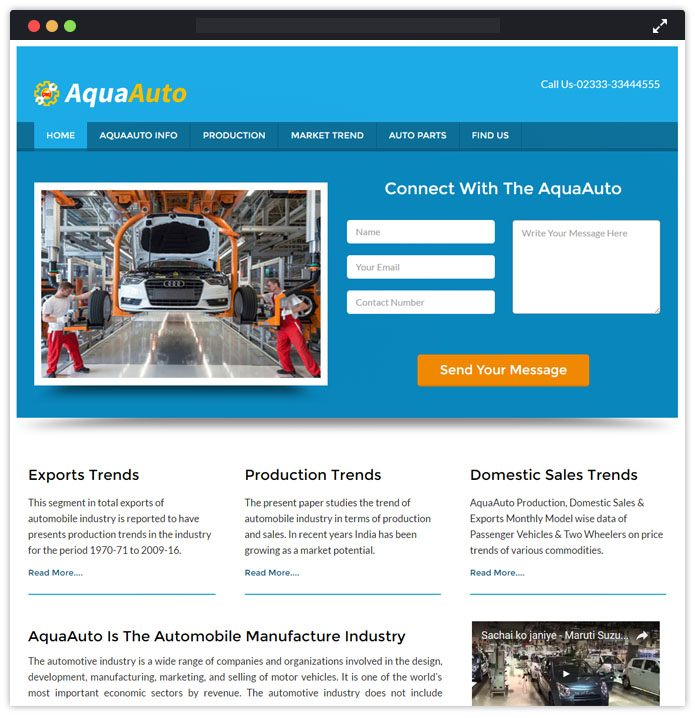 aquaauto wp theme
