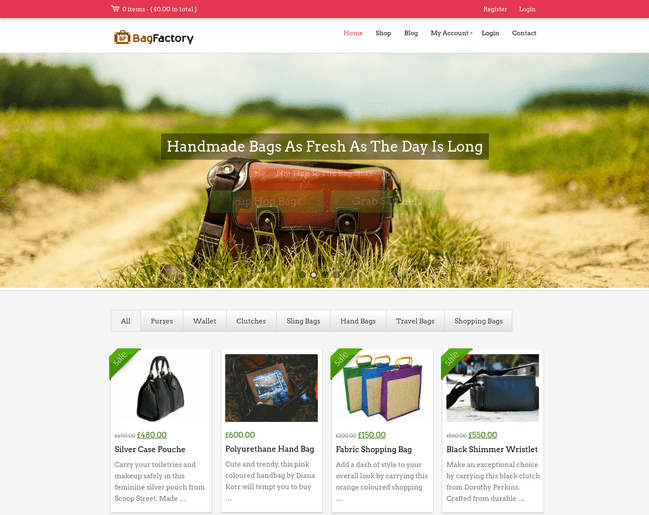 bag factory wp theme
