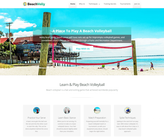beach volly wp theme