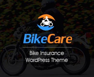 BikeCare - Bike Insurance WordPress Theme