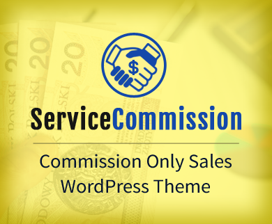 ServiceCommission - Commission Only Sales WordPress Theme