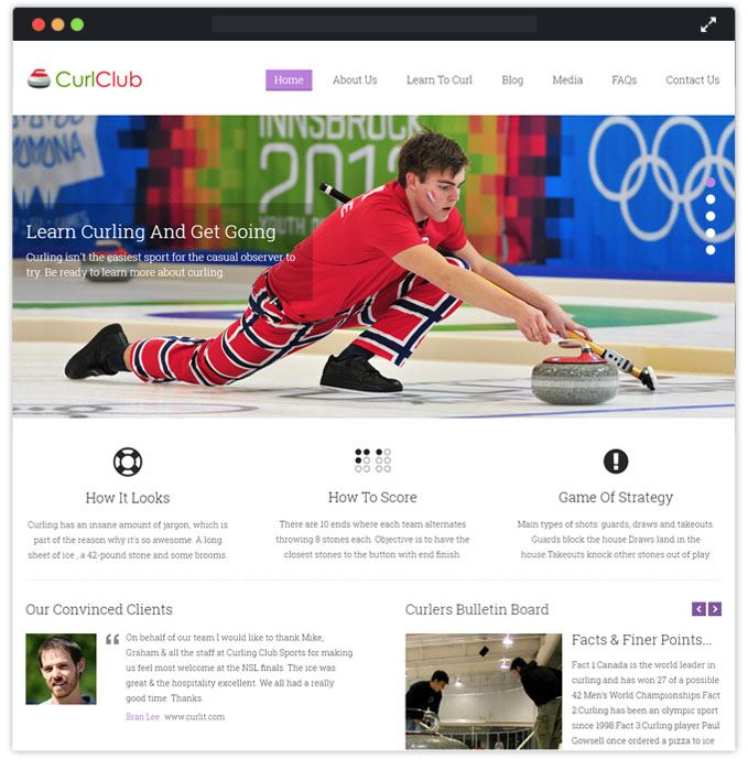 CurlClub WP Themes