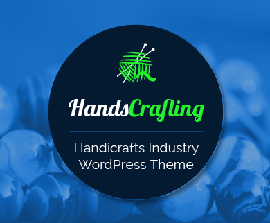 HandsCrafting - Handicrafts Industry eCommerce WordPress Theme