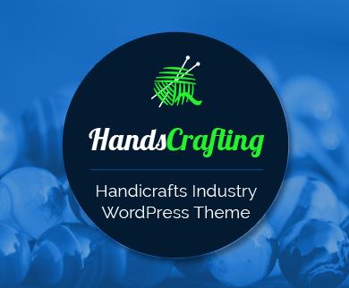 HandsCrafting - Handicrafts Industry eCommerce WordPress Theme