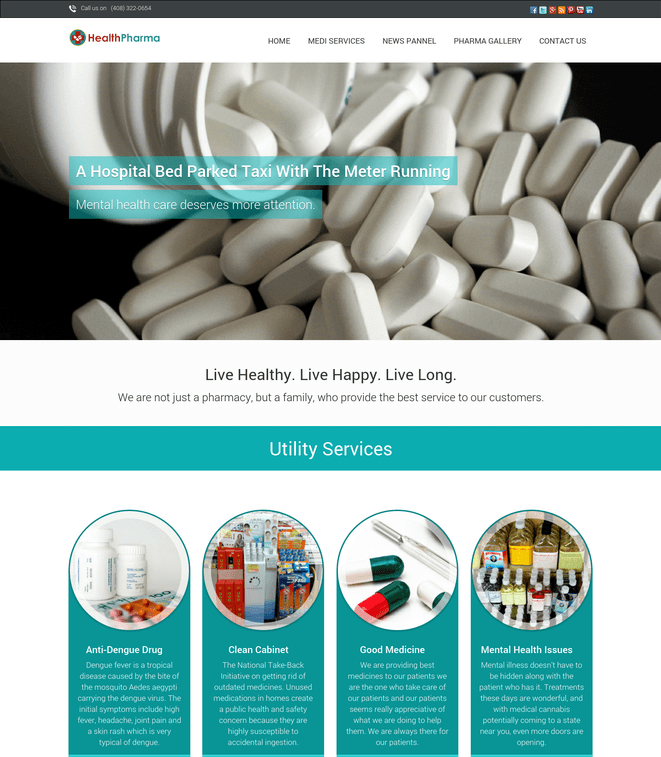 health pharma wp theme