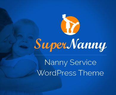 SuperNanny - Nanny Service WordPress Theme