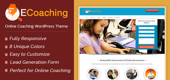 ecoaching online coaching wordpress theme inkthemes