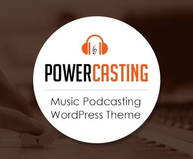 PowerCasting -  Music Podcasting WordPress Theme