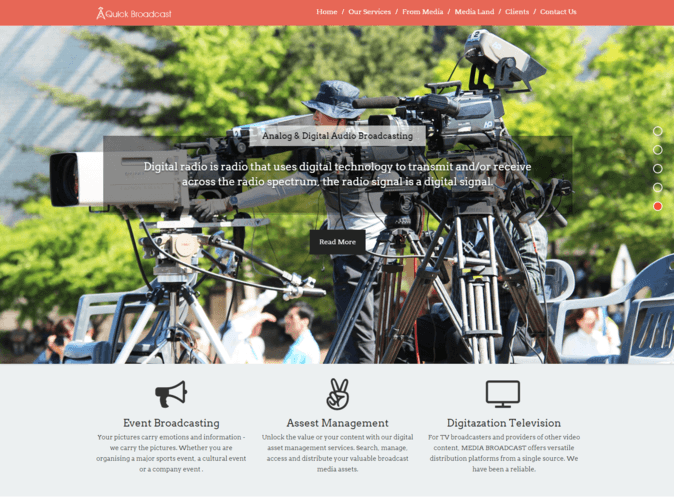 quick broadcast wp theme