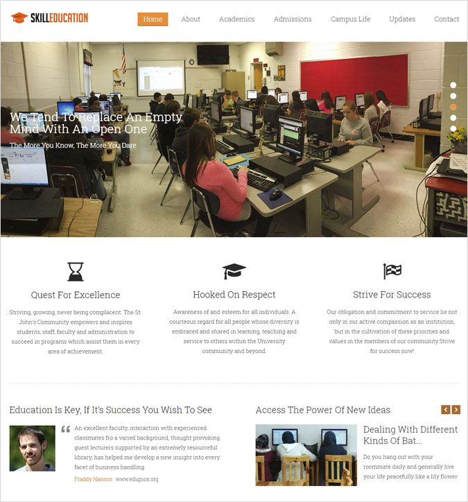 skill education wp theme