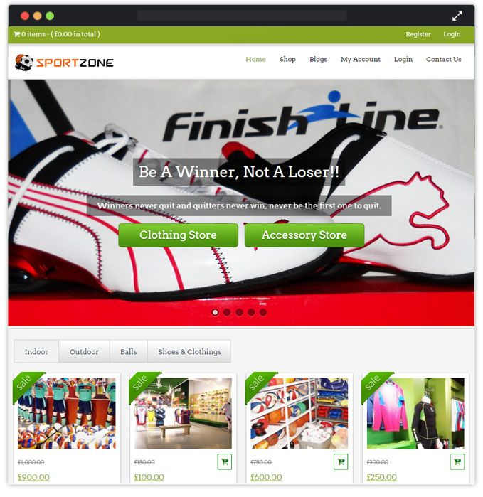 SportZone WordPress Theme