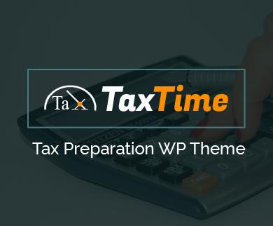 TaxTime - Tax Preparation WordPress Theme