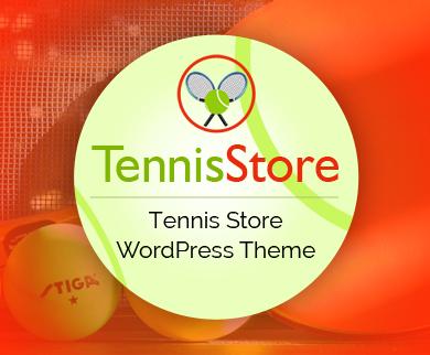 TennisStore - Tennis Shop eCommerce WordPress Theme