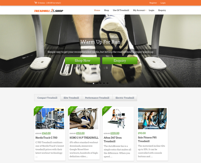 trademill shop wp theme