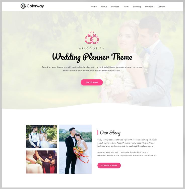 Colorway - Wedding Planner WordPress Theme