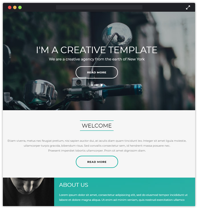 Air - One Page Website Html Template