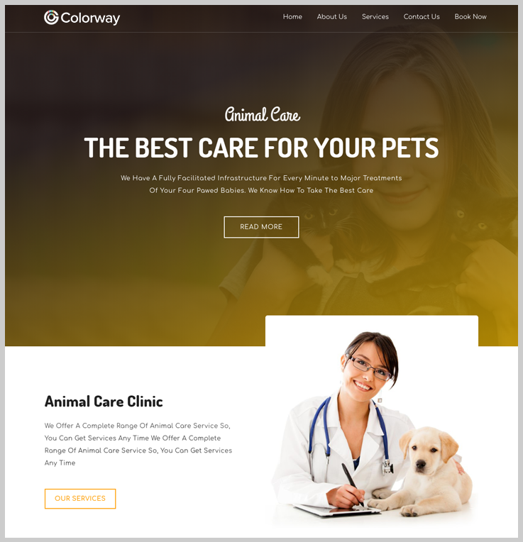 Colorway - Animal Care WordPress Theme
